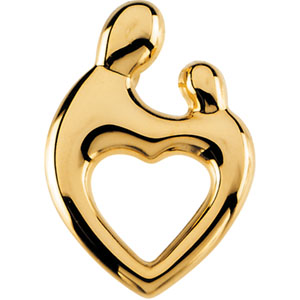14k white gold heart shaped mother and child pendant small the special relationship that exists between mother and child requires a special design janel russells classic mother and child design has become the aloadofball Images