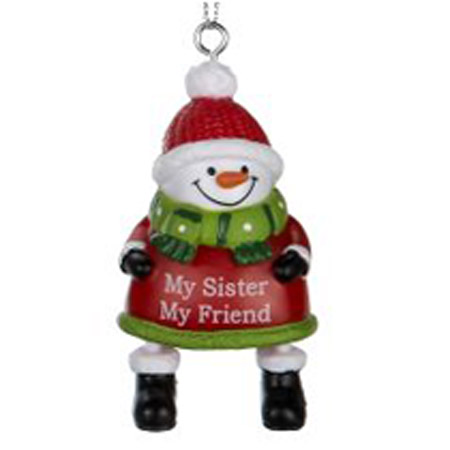 ganz my sister my friend jingles snowman ornament goldfingers gifts
